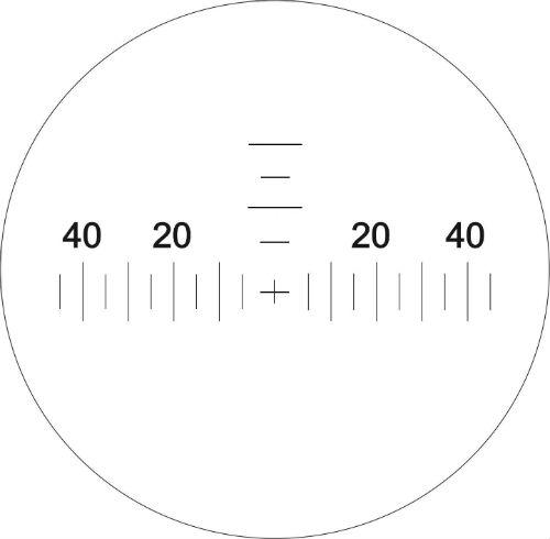Изображение угломерной сетки бинокля КОМЗ БПЦс 10х40