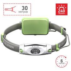 Cветодиодный налобный фонарь LedLencer NEO 4 500915 зеленый