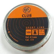 Пульки RWS Club, 0.45 г, 4.5 мм, 500 шт