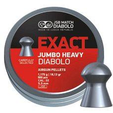 Пульки JSB Exact Jumbo Heavy, 1.175 г, 5.5 мм, 500 шт
