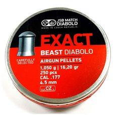 Пульки JSB Exact Beast, 1.05 г, 4.5 мм, 250 шт