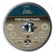 Пульки HN Field Target Trophy, 1.29 г, 6.35 мм, 200 шт