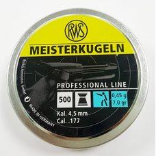 Пульки RWS Meisterkugeln пистолетные, 0.45 г, 4.5 мм, 500 шт