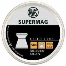 Пульки RWS Supermag, 0.6 г, 4.5 мм, 500 шт