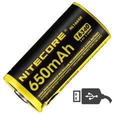 Аккумулятор Nitecore NL1665R 16340/650mAh USB