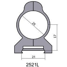 Крепление - кольца 2521 L