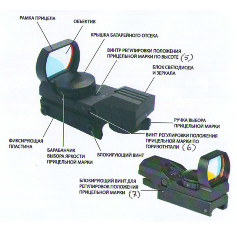 Коллиматорный прицел Veber 1x22x33 DT