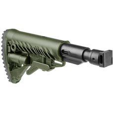 Телескопический складной приклад с амортизатором для САЙГИ/AK-74M/АК-100-ые серии, зелёный