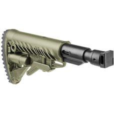 Телескопический складной приклад с амортизатором для САЙГИ/AK-74M/АК-100-ые серии, бежевый