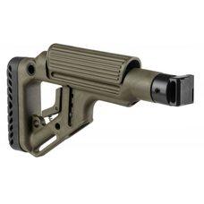 Складной приклад для САЙГИ/AK-74M/АК-100-ые серии, зелёный