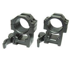 Быстросъемные кольца Leapers UTG под 25,4 мм на Weaver высокие