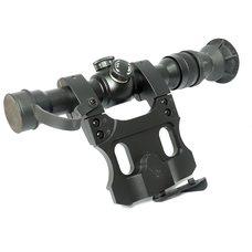 Оптический прицел Рысь 4М сетка №1 с кронштейном для Вепрь