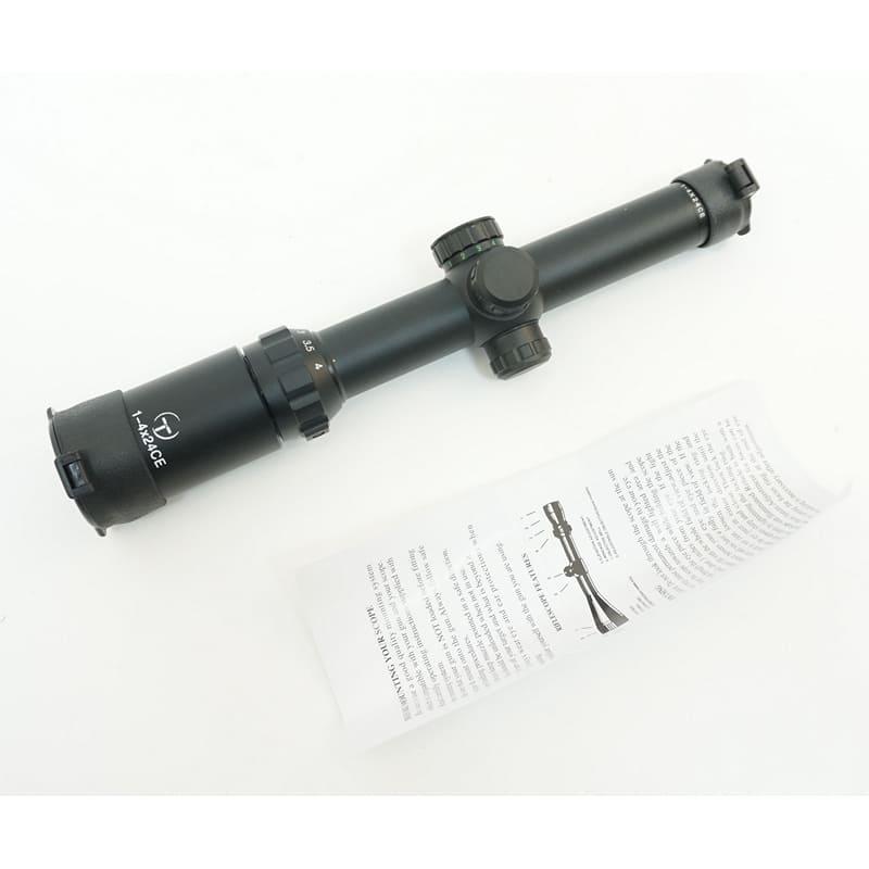 Оптический прицел Target Optic 1-4x24E Mil Dot, с подсветкой (вся сетка) 30 мм