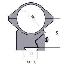 Крепление - кольца 2511 B