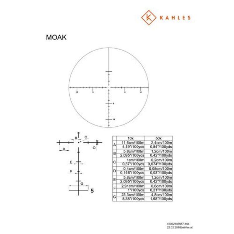 Оптический прицел Kahles K1050 10-50x56 MOAK ccw 1/8MOA