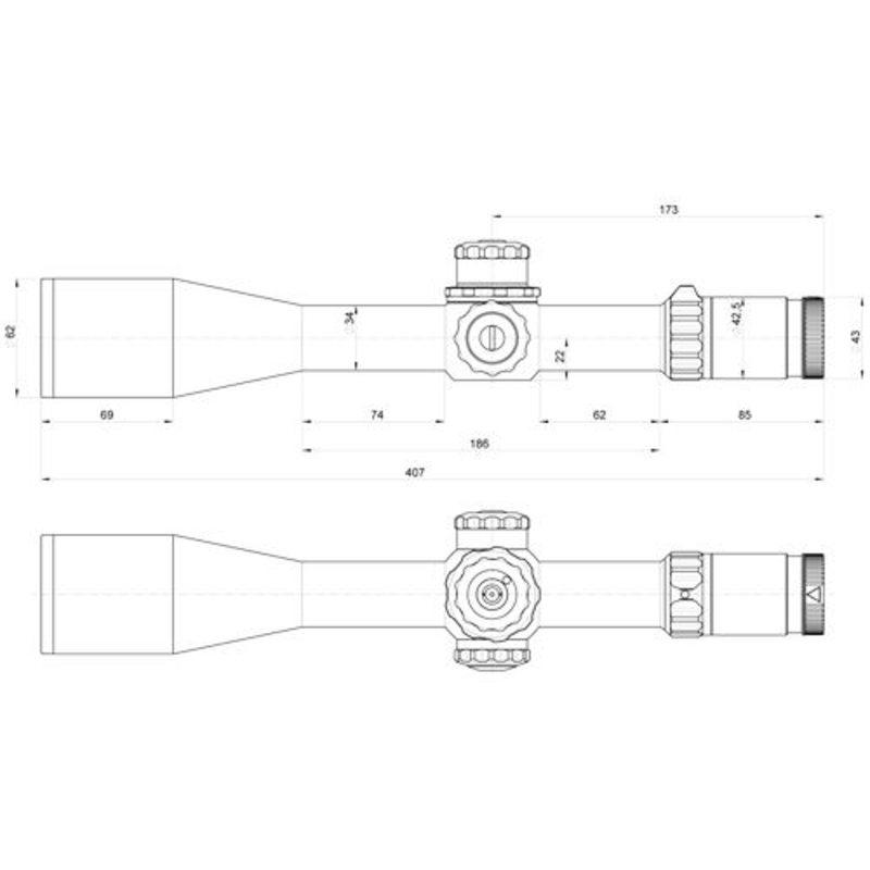 Оптический прицел Kahles K624i 6-24x56 CCW LSW (сетка MOAK) с подсветкой