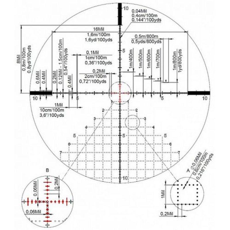 Оптический прицел Kahles K624i 6-24x56 CCW LSW (сетка AMR) с подсветкой