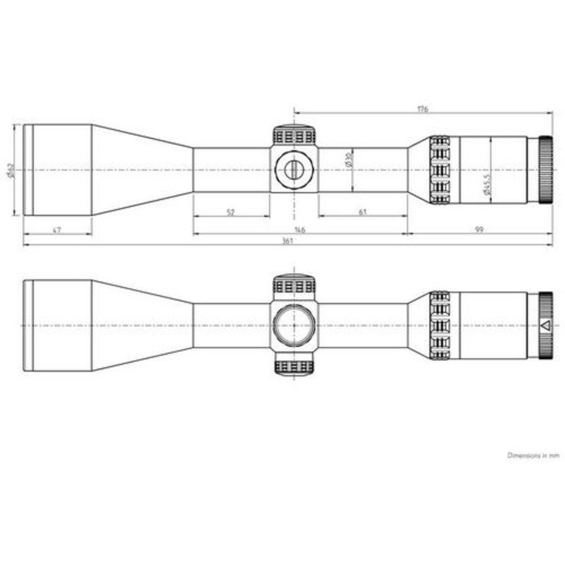 Оптический прицел Kahles Helia 2.4-12x56i L (сетка 4-Dot) с подсветкой
