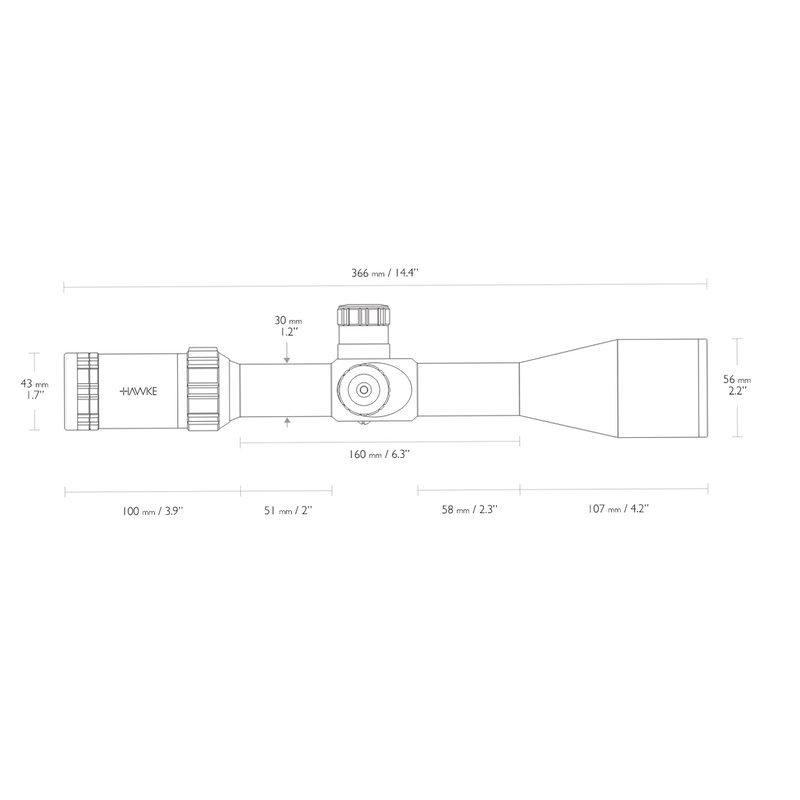 Оптический прицел Hawke Sidewinder 4-16х50 (10х 1/2 Mil Dot)