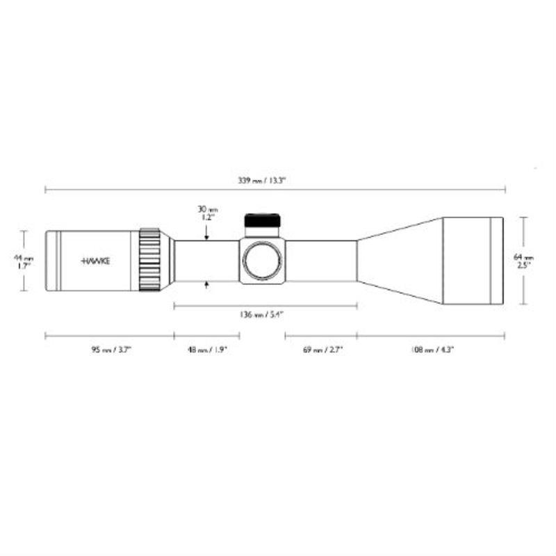 Оптический прицел Hawke Vantage 2,5-10x56 IR (L4a)