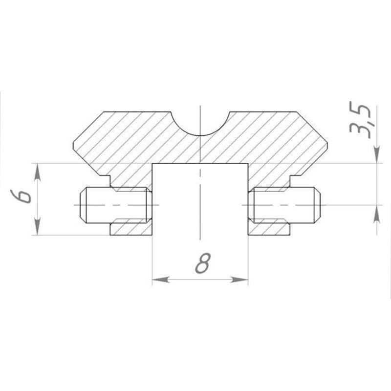 МВЖИ.301569.065 Кронштейн Weaver на ИЖ-27,ТОЗ-34